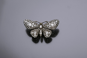 Jewels - A diamond set butterfly brooch