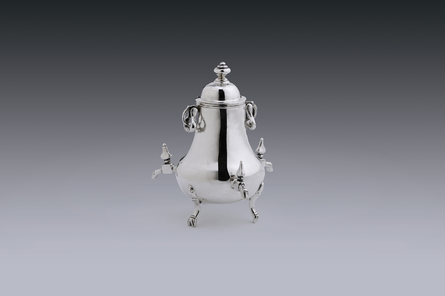 Miniatures - Miniature coffee urn with three taps Jan  Borduur