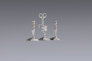 Miniatures - Miniature candlesticks with snuffers Jan Borduur