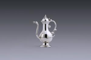 Miniatures - Miniature wine jug maker's mark  a dog/horse