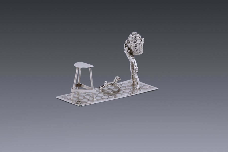 Miniatures - A miniature peat-porter Arnoldus van Geffen