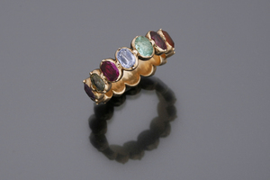 Jewels - A gem set 'harlequin' ring