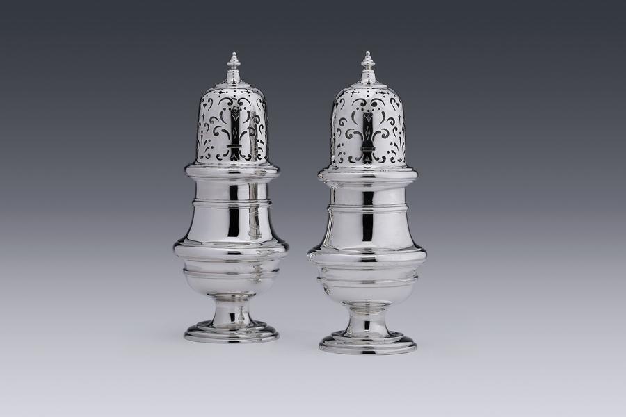 Silver - Pair of casters Regnerus Elgersma