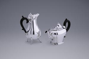 Silver - A Middelburg Teapot and Milk Jug Phillipus Prié