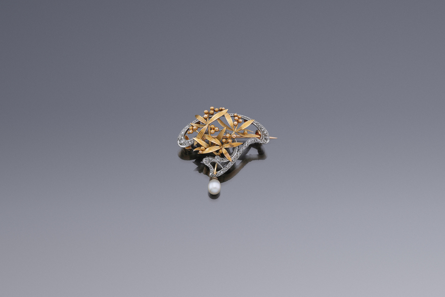 Jewels - Art Nouveau Mimosa Brooch