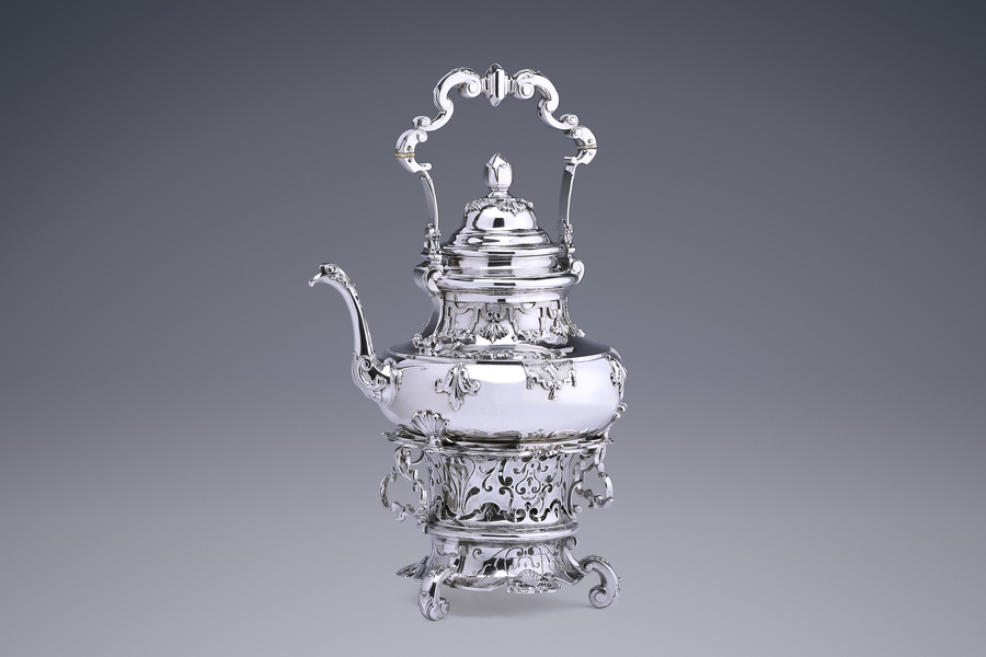 Silver - A Highly Important Kettle on Stand Francois Lambregts