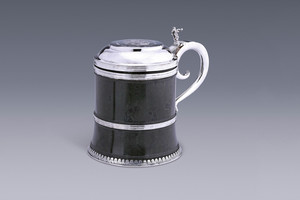 Silver - A Large Serpentine Tankard Willem  Jans Olthof