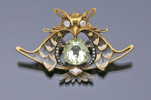 Jewels - Art Nouveau Owl Brooch Leopold Gautrait