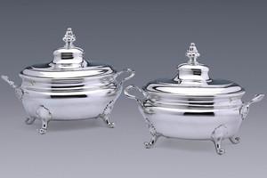 Silver - A Pair of Tureens Gregorius van der Toorn